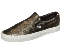 Classic Slip-On Gold Dots Sneaker gold / weiß