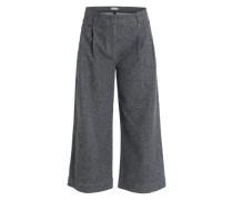 Stoffhose aus Flannel grau