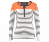 Ringelshirt grau / orange / weiß