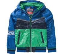 Übergangsjacke für Jungen blau / hellgrün
