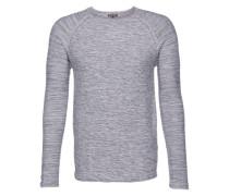 Pullover 'raglan Pretwist' grau