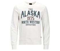 Sweatshirt Print navy / kirschrot / weiß