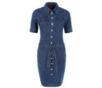 Jeanskleid mit Knopfleiste blue denim