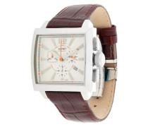 Armbanduhr 'Istros' kastanienbraun / silber