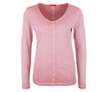 Langarmshirt in Garment Dye pink