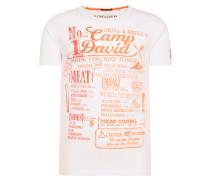 T-Shirt weiß / orange