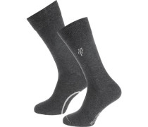 2 Paar Socken grau / weiß