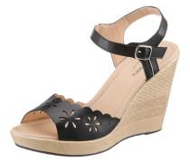 Sandalette mit Keilabsatz schwarz