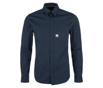 Stretch-Hemd dunkelblau