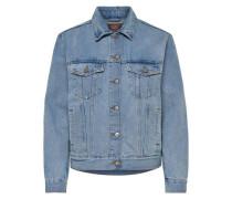 Lockere Jeansjacke blau