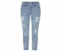 Boyfriend-Jeans blue denim