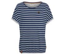 T-Shirt blau / weiß
