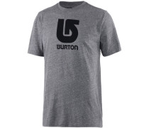 Logo Vertical Printshirt Herren grau