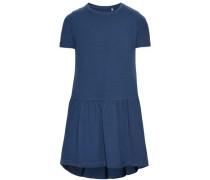 Kleid mit kurzen Ärmeln nitvita blau