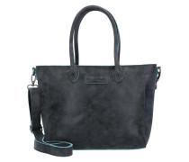 'Kara Silver Lining' Shopper Tasche 43 cm schwarz
