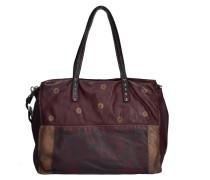 Shopper Tasche Leder 38 cm rot / merlot