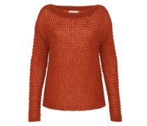 Locker gestrickter Oversize Pullover rot