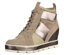 Wedgesneaker bronze / taupe