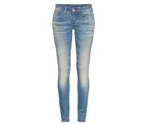 Skinny Jeans mit Used Waschung 'Lynn' blau