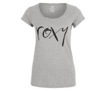 Shirt 'Bobbystraightup' graumeliert / schwarz