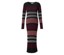 Kleid Jara grau / rosa / blutrot / schwarz