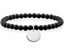 Armband 'Schwarz Coin Lba0114-023-11-L' schwarz / silber