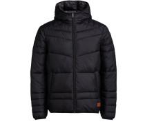 Klassische Wattierte Jacke schwarz