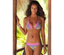 Triangel-Bikini gelb / lila / pink