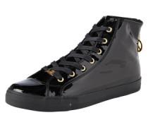 Lack-Sneaker schwarz