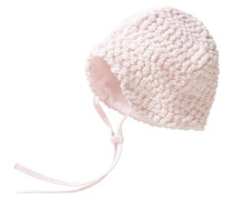 Baby Mütze zum Binden für Mädchen rosa