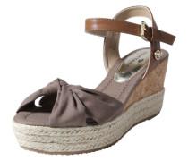 Wedge-Sandalen mit Knoten schlammfarben