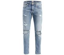 Skinny Fit Jeans Mike Original JJ 053 blau