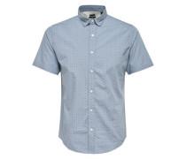Kurzarmhemd marine / rauchblau