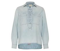 Jeanshemd mit Schnürung hellblau