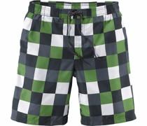 Badeshorts grau / grün / weiß