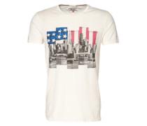 T-Shirt mit Foto-Print' weiß