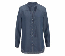 Schluppenbluse blue denim