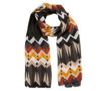 Schal mit Zickzack-Print mischfarben