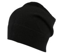 Mütze in Strickoptik schwarz