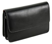 Toscana Handgelenktasche Leder 24 cm schwarz