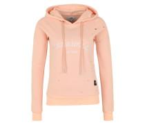 Hoodie 'Parisiennes' im Used-Look apricot