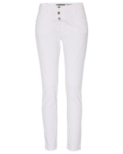 'Boyfriend' Loosefit Jeans weiß