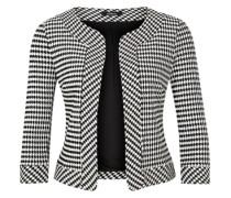Kurzer Jacquard-Blazer schwarz / weiß