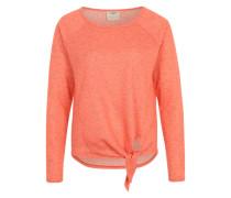 Shirt 'Vmchloe' mit Knoten-Funktion pfirsich / dunkelorange / orangemeliert