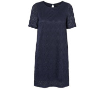 Spitzen-Kleid mit kurzen Ärmeln navy