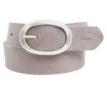 Ledergürtel mit ovaler Schließe beige