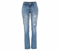 Destroyed-Jeans blau
