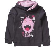 Kapuzenpullover für Mädchen dunkelgrau / pink / hellpink / weiß
