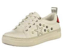 Sneaker rot / silber / weiß