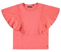 T-Shirt mit Flügelärmeln lachs